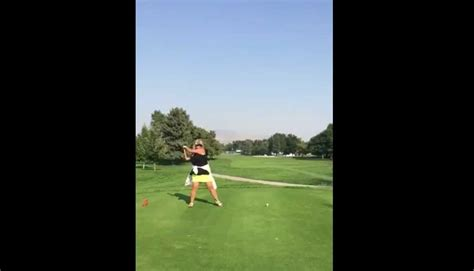 ugliest golf swing video woman with the ugliest golf swing in history