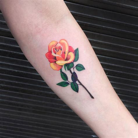 black and yellow rose tattoo collection of 25 yellow