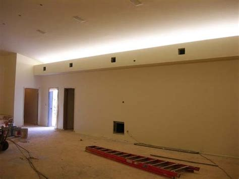 soffit box with recessed lighting indirect lighting retro fit cove lighting with soffit box
