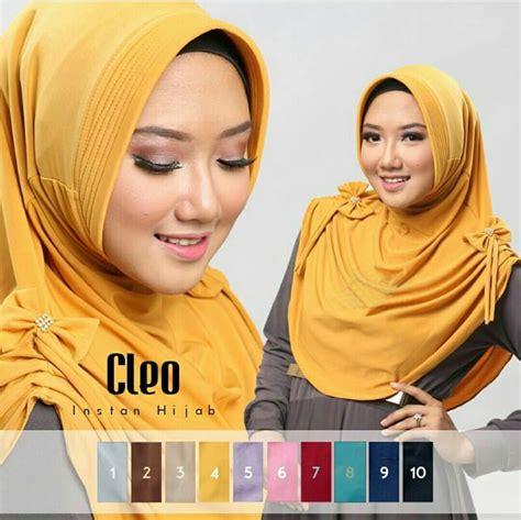 Jilbab Instan Cleo Ped Antem model jilbab instant cleo jersey