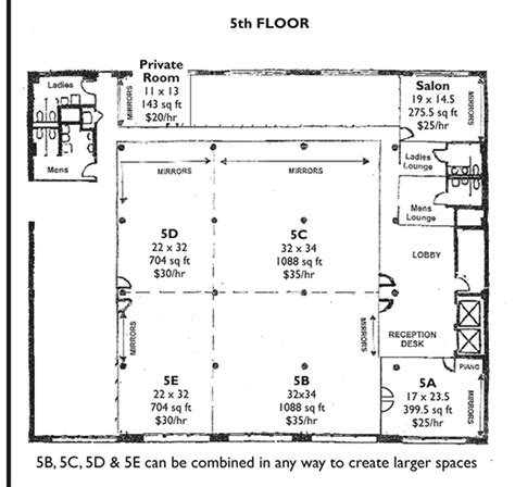 dance studio floor plans rehearsal space nyc 1000s of sq ft available for nyc