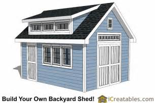 Shed Dormer Plans 12x16 Shed Plans With Dormer Icreatables