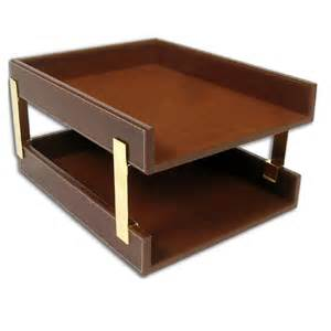 stacking letter trays rustic brown leather brolero