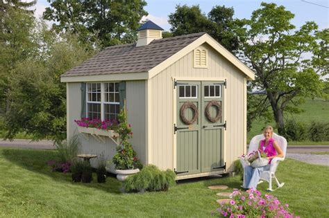 williamsburg colonial wooden outdoor garden shed kit