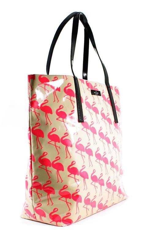 Tas Fossil Flamengo Shopper Bag kate spade daycation bon shopper flamingo print tote bag new ebay