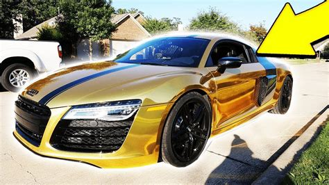 audi r8 gold moosecraft s gold chrome supercar audi r8 reveal
