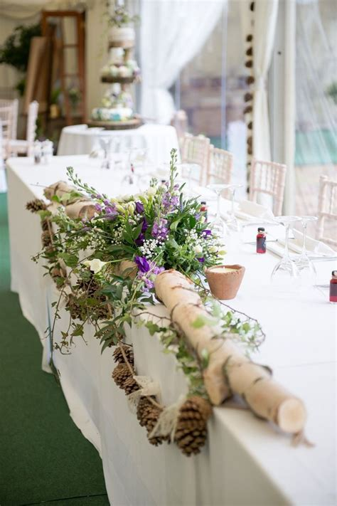 Purple & Green Rustic Woodland Glade Wedding   Wedding