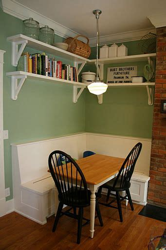 built in kitchen table i ve always wanted a built in bench with a kitchen table