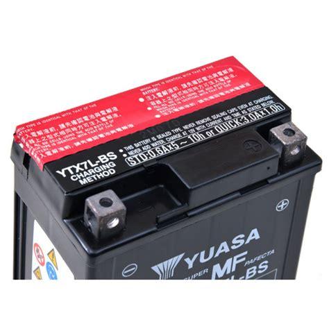 Motorrad Batterie Spannung by Motorrad Batterie Yuasa Ytx7l Bs 12v 6ah Mot9203 All