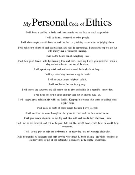 L T Resume Upload by Exles Of Code Of Ethics Choice Image Exle Cover