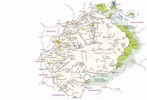 visitlesotho travel detailed road map