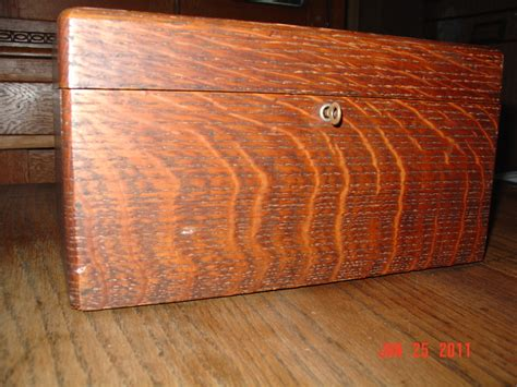 Home Designer Games antique tiger oak jewett humidor with key collectors