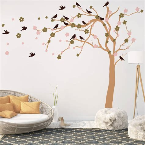 blossom wall stickers summer blossom tree wall stickers by parkins interiors