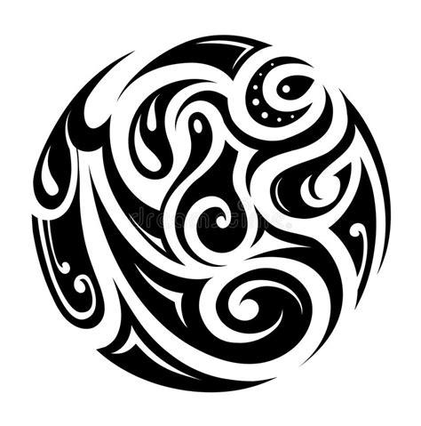 tribal art circle stock vector illustration of elegant