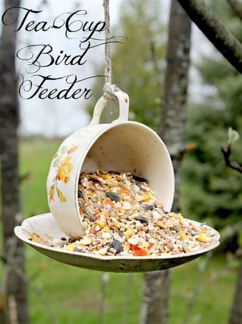 Summer Bath Center And Shower tea cup bird feeder bushel amp a peck