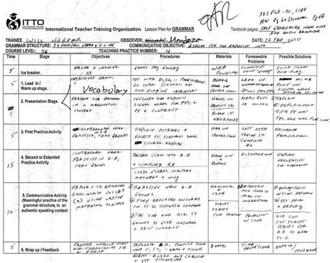 tefl teaching class 4 lesson plan level 3a grammar