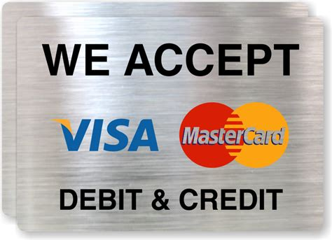 Buy Mastercard Gift Card With Credit Card - credit card signs credit and debit cards accepted