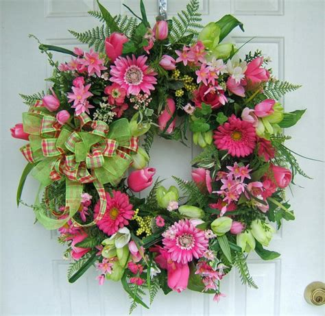 springtime wreaths last one beautiful spring wreath custom order lime hot
