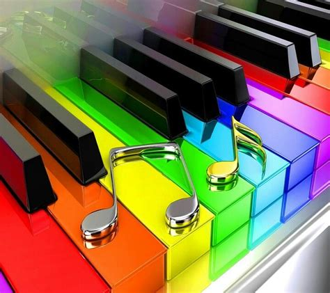 piano color got to the rainbow and color it up