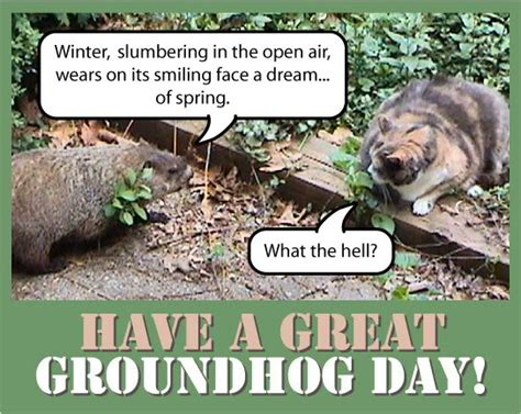 groundhog day debbie whats ther ground hog say
