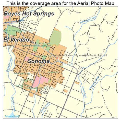 california map sonoma aerial photography map of sonoma ca california