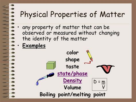 properties of matter for unit 2 classification of matter ppt