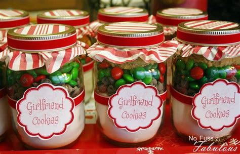christmas girlfriend cookies in a jar recipes in a jar