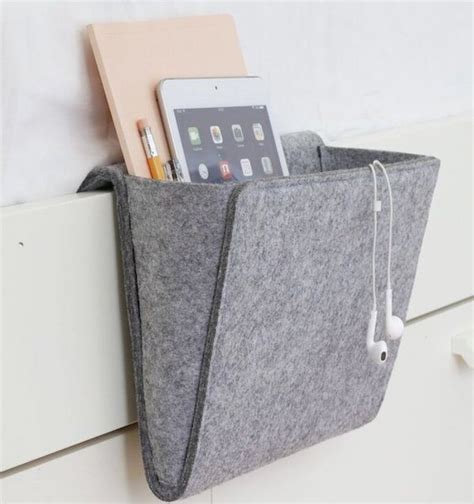 remote control holder for bed felt bedside caddy by kikkerland 187 gadget flow