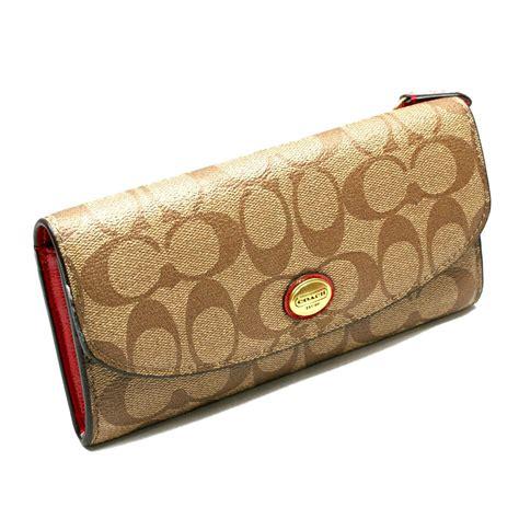 82 coach clutches wallets coach coach peyton signature envelope pvc wallet clutch khaki 49154 coach 49154
