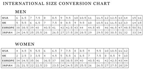 size guide shoes footjoy golf shoes fitting guide