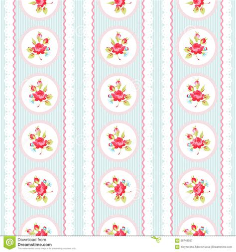 pink lace pattern seamless pattern with pink roses and lace stock vector