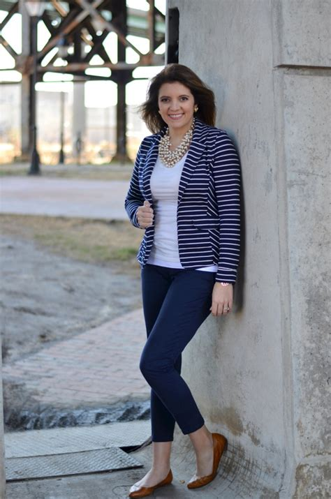 navy blue and white stripes by m