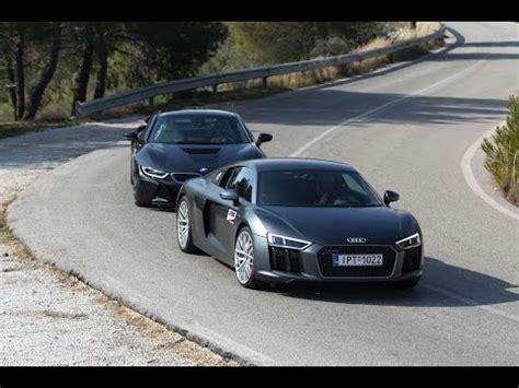 Bmw I8 Audi R8 by Audi R8 V10 Bmw I8