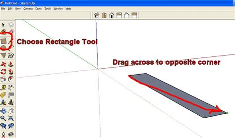sketchup layout rectangle dimensions sketchup tutorial