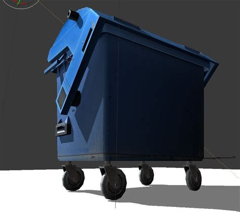 ragdoll 3d model garbage container with ragdoll settings free vr ar low
