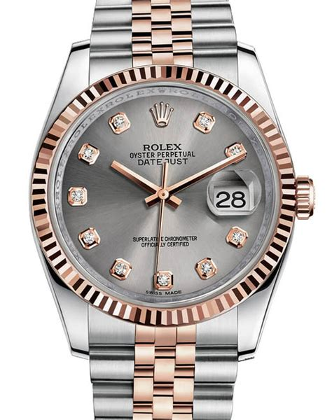 Rolex Oyster Silver Rosegold rolex 116231 silver datejust steel and everose gold цена