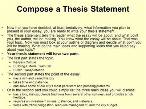 Exle Of A Thesis Statement For An Essay by How To Write A Thesis Statement What Is A Thesis Statement