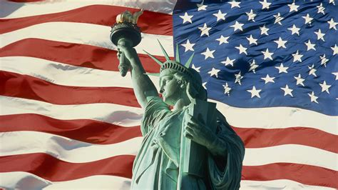 statue of liberty and flag statue of liberty and flag york wallpaper
