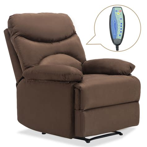 Heated Recliner Chair by Ergonomic Lounge Heated Microfiber Recliner Sofa