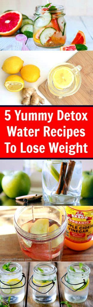 Tasty Detox Recipes by 5 Detox Water Recipes For Weight Loss