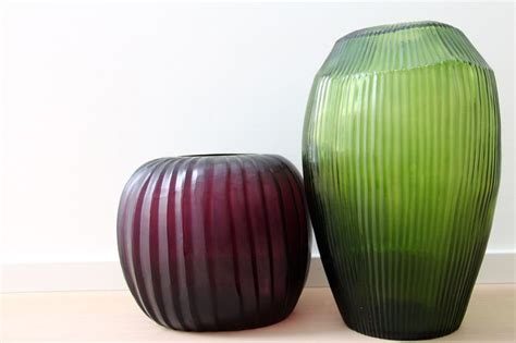 Amethyst Glass Vase Guaxs Vase Manakara Round In Amethyst And Sulava Tall In
