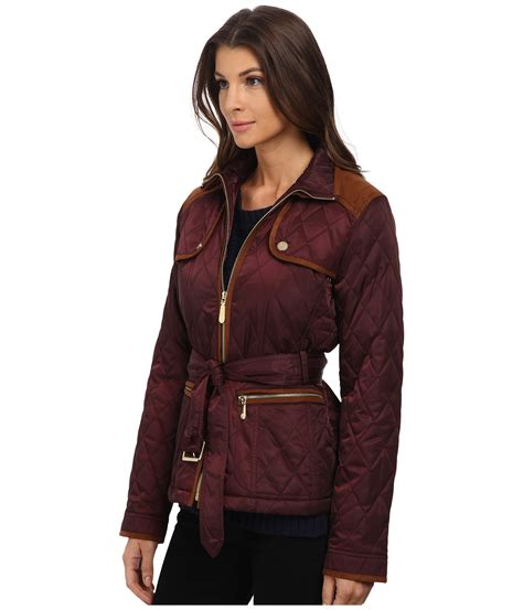 Belted Quilted Jacket by Vince Camuto Belted Quilted Jacket J8021 Zappos Free