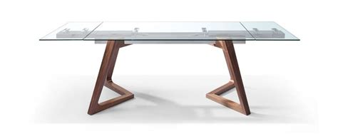Wood And Glass Desk by Premium Glass Desk Or Conference Table With Solid Wood Legs Extends F Computerdesk