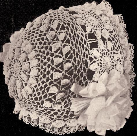vintage pattern crochet 10 vintage antique baby hat cap bonnet crochet doll