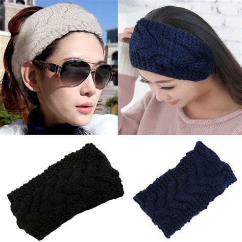 23 colors knitted turban headbands for winter warm 1pcs knitted turban headbands for winter warm