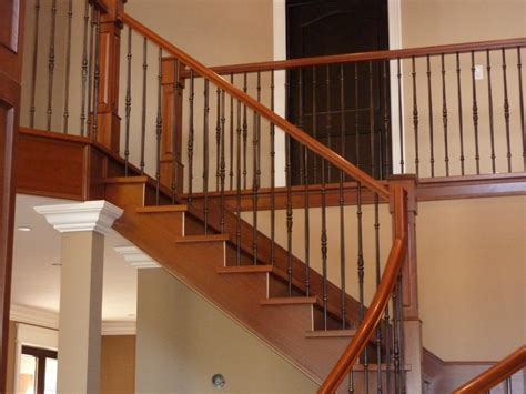 wooden stair banister stair banisters best railing stairs and kitchen design installing wooden stair