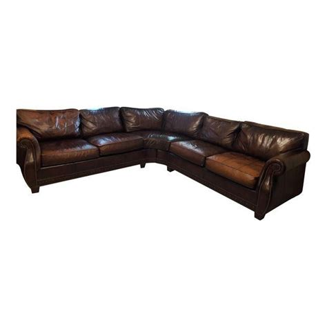 bernhardt leather sectional bernhardt grandview sectional leather sofa chairish