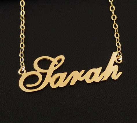 nameplate necklace personalized necklace 18k gold 925