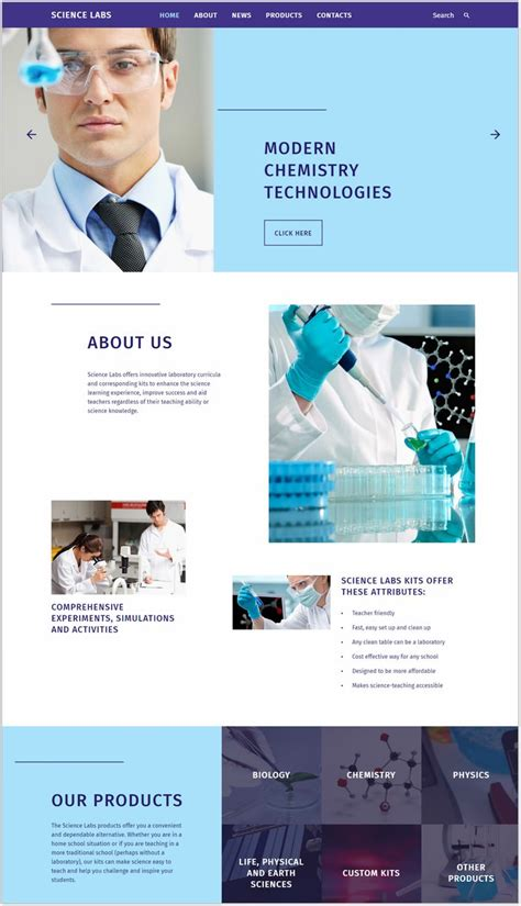 21 Best Laboratory Website Templates And Themes 2018 Templatefor Laboratory Website Templates