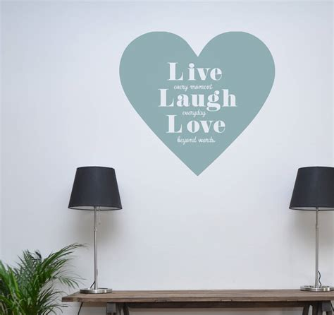 live laugh wall stickers live laugh wall sticker by leonora hammond